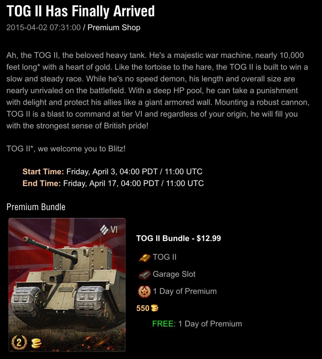 Tog? - British Tanks - World of Tanks Blitz official forum